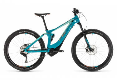 Electric Full Suspension Women Cube Sting WS Hybrid 120 Race 500 Shimano Deore 10V 29'' Plus 2019