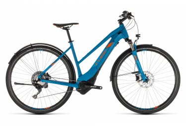 Cube Cross Hybrid Race 500 Allroad Trapeze Womens E-Bike  Bleu / Orange