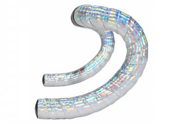 Ruban de Cintre Supacaz Prizmatik Hologram Silver avec Bouchons