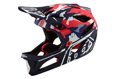 Casco integrale tattico di Troy Lee Designs Stage Matte Red White Blue