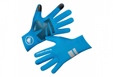 Lange Handschuhe Endura FS260 Pro Nemo II Blau Fluo
