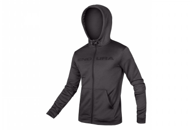 Hooded Sweatshirt Endura Hummvee FZ Hoodie Anthracite Gray