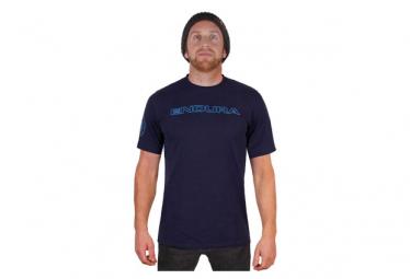 T shirt manches courtes endura carbon one clan bleu xs