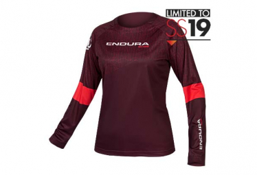 Endura MT500 Print II Long Sleeve Jersey Purple