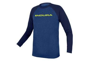 Endura One Clan Raglan Blue Long Sleeve Kid's Jersey