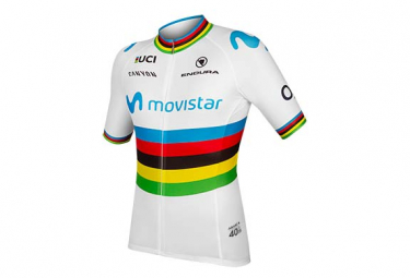 Maillot Manches Courtes Femme Endura Movistar World / Blanc