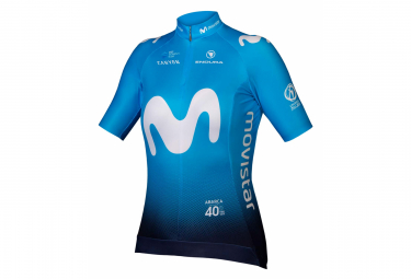 Endura Movistar Team Kurzarmtrikot Blau