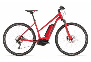 Cube Cross Hybrid Pro 500 Trapeze Womens E-Bike  Rouge