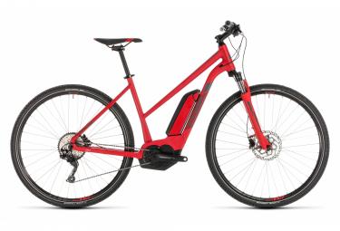 Bicicleta Híbrida Eléctrica Cube Cross Hybrid Pro 500 Trapeze 700 Rouge