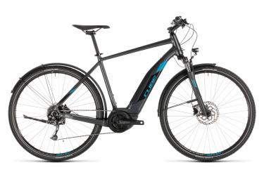 Bicicleta Híbrida Eléctrica Cube Cross Hybrid ONE 500 Allroad 700 Gris / Bleu