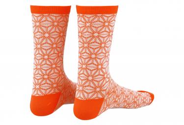 Image of Paire de chaussettes supacaz supasox asanoha corail blanc 36 40