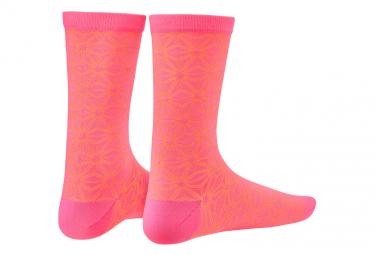 Paire de Chaussettes Supacaz SupaSox Asanoha Neon Rose/Orange
