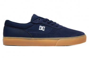 DC Shoes Switch Dunkelblaue / braune Gummischuhe