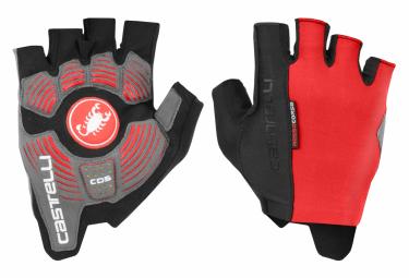 Castelli Rosso Corsa Espresso Short Gloves Red Black