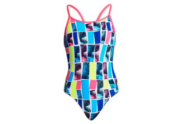 Image of Funkita fille palm bar diamond back maillot junior natation 14 15 ans