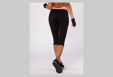 Image of Legging bodycross 3 4 running paula noir corail