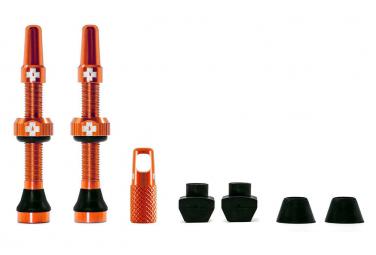 Tubeless Valves Muc-Off Aluminum Presta 44 mm Orange