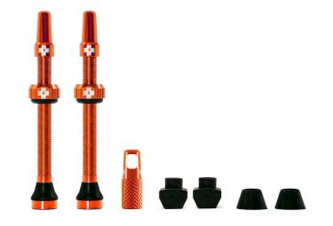 Tubeless Valves Muc-Off Aluminum 60 mm Orange