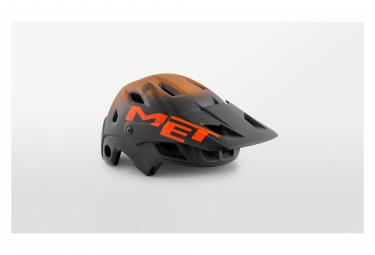 Casque avec Mentonnière Amovible Met Parachute MCR Mips Noir Orange Mat