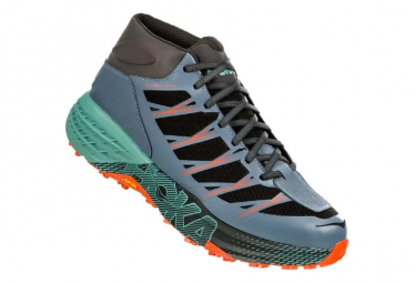 Hoka One One Speedgoat Mid WP Black Green Orange Men