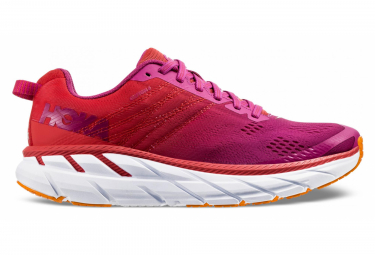 Chaussures de Running Femme Hoka One One Clifton 6 Rose / Rouge