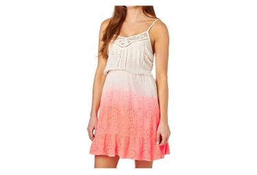 Robe Blanc Orange Dip Dye Schiffli Chelsea Dress Femme Superdry