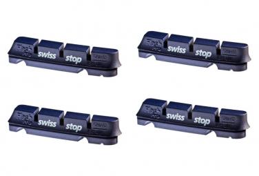 SwissStop FlashPro BXP x4 Brake Pad Inserts Aluminium Wheels For Shimano / Sram / Campagnolo