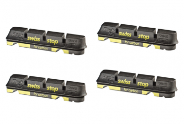 SwissStop FlashPro Black Prince x4 Brake Pad Inserts Carbon Wheels For Shimano / Sram / Campagnolo