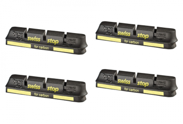 SwissStop RacePro Black Prince x4 Brake Pad Inserts Carbon Wheels For Campagnolo
