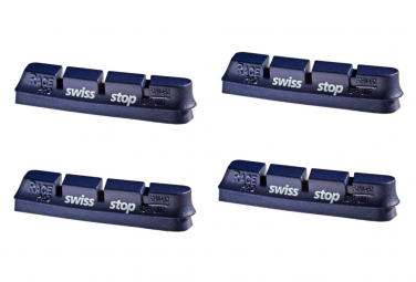 SwissStop RacePro BXP x4 Brake Pad Inserts Aluminium Wheels For Campagnolo