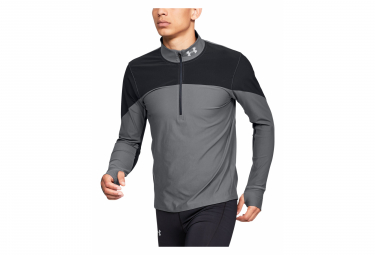 Under Armour Qualifier Half-Zip Jersey de manga larga Gris Negro