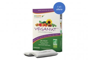 Image of 2 boites de 5 barres proteino calorique hydrascore veganut bio et vegan abricot 5x25gr