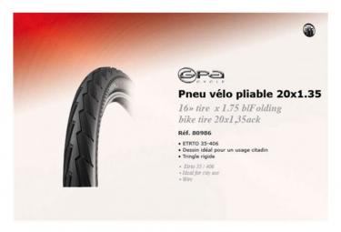 GPA CYCLE Pneu Vélo pliable 20*1.35 ETRTO 35-406