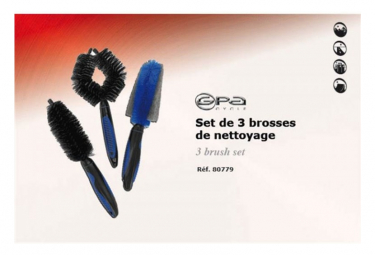 Image of Gpa cycle set de 3 brosses de nettoyage