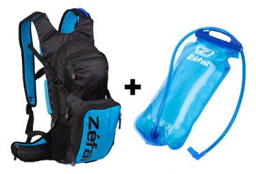Zefal Z Hydro Enduro Hydration Bag + Water Pocket Black / Blue
