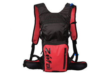 Zefal Z Hydro Enduro Hydration Bag + Black / Red Water Bag