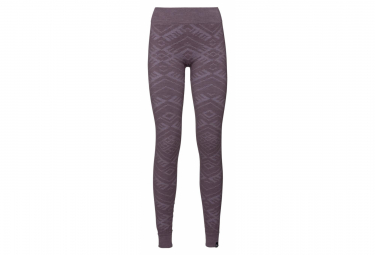 Odlo Tights NATURAL WARM Woman purple vintage