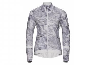 Odlo Jacket FUJIN Woman silbergrau - Papierdruck XS