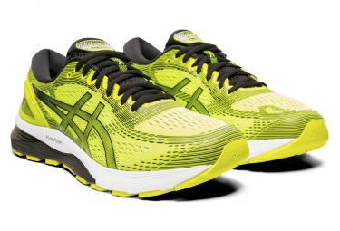 Chaussures de Running Asics Gel Nimbus 21 Jaune / Noir | Alltricks.fr