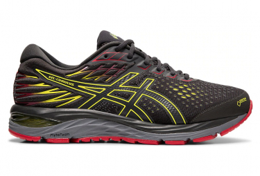 Asics Gel Cumulus 21 GTX Grey Yellow Red Men