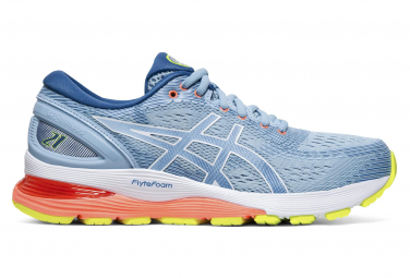 Asics Gel Nimbus 21 Blue Corail Yellow Women