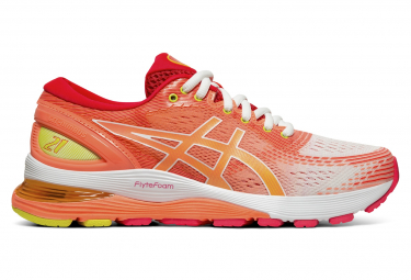 Asics Gel Nimbus 21 White Corail Women