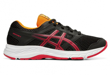 Asics Contend 5 Black Red Children