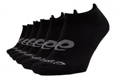 Pack de 6 paires de Chaussettes Asics Invisible Noir Unisex