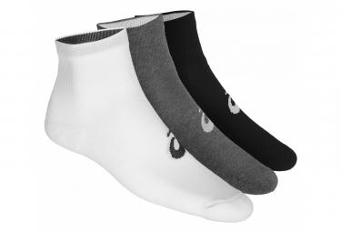 Asics Socks x3 Quarter Grey Unisex