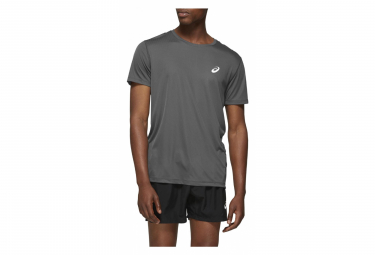 Asics Short Sleeves Jersey Silver Grey Men