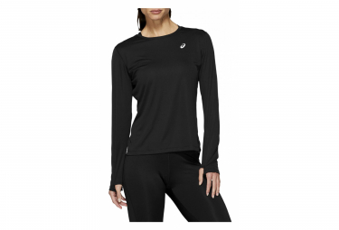Asics Long Sleeves Jersey Silver Black Women