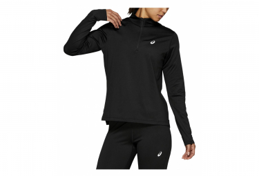 Asics 1/2 Zip Long Sleeves Jersey Silver Black Women