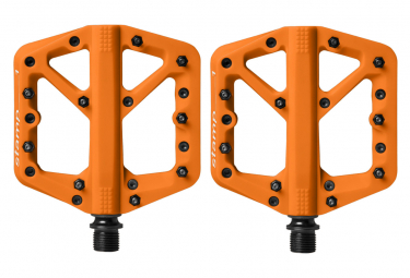 Pair of P dales Plates Crankbrothers STAMP 1 Orange