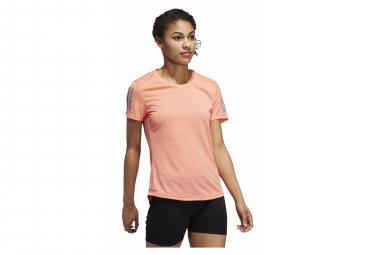 Camiseta De Manga Corta Adidas Own Run Pink Para Mujer S